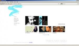 Portfolio Website for Cinematographer in Mumbai, India
